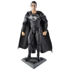 News - Man of Steel Movie Masters Black Suit Superman Figure Revealed - Mint Condition Customs