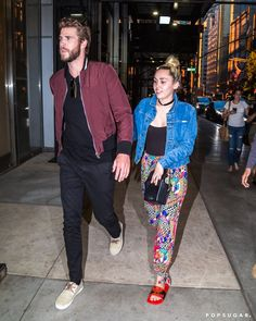 Pin for Later: Miley Cyrus and Liam Hemsworth Hold Hands While Out in NYC