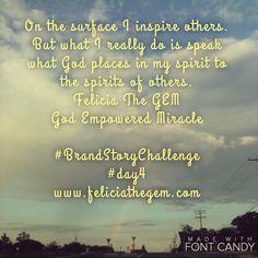 #GodEmpoweredMiracle #MiracleCatalyst #MySpiritSpeaks www.feliciathegem.com