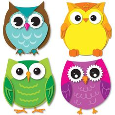 Express your contemporary sense of style by decorating your classroom with the Colorful Owls assorted mini Colorful Cut-Outs(R). This multipurpose set features 36 owl cut-outs in a variety of colors t
