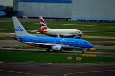 KLM Boeing 737-700 and British Airways Airbus A319