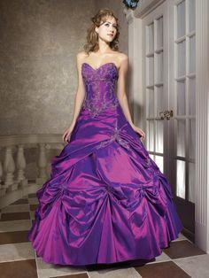 paarse bruidsjurk