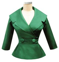 vintage style formal jacket mother of the bride separates green wedding 50's style jacket trashy diva courtney