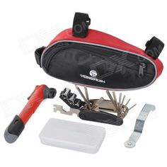 Yongruih 01 Outdoor Cycling Bike Repairing Tool Set - Red   Blue Price: $25.80