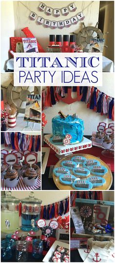 Here's a Titanic birthday party for a boy who loves the ship! See more party ideas at CatchMyParty.com!