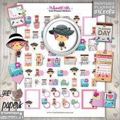 Planner Girl Stickers Day Printable Accessories Use In Erin Condren