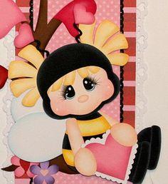 ELITE4U PMBY JULIE girl Valentine border 4 scrapbook page album paper piecing