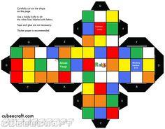 rubik's cube template - Google Search
