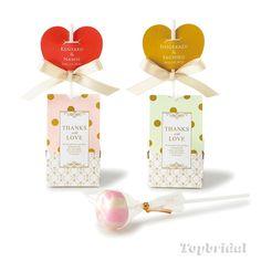 ネーム入り Sweet Candy POP (イチゴミルクキャンディ) 1個 【29-TAB031】 - 激安プチギフトのキラット専門店|トップブライダル