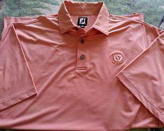 05712ee7 FootJoy Men's XL S/S Golf Polo Shirt Orange Silver Creek Country Club Logo  #FootJoy #PoloRugby