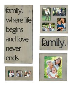 Family Sentiment Collage Frame & Sign Set