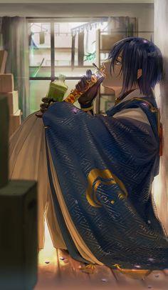 Manga Anime, Anime Art, Anime Boys, Touken Ranbu Mikazuki, Human Art, Anime Characters, Sword, Fandoms, Guys