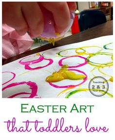 Toddler Easter Art with Plastic Eggs
