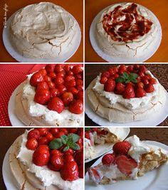 Pavlova, Macarons, Camembert Cheese, Mousse, Panna Cotta, Dairy, Food, Dulce De Leche, Essen