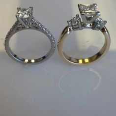 Which diamond ring do you like more?   Www.vancouverdiamonds.ca  Vancouver bc