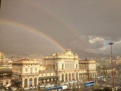 Doppio arcobaleno a #Genova #Brignole