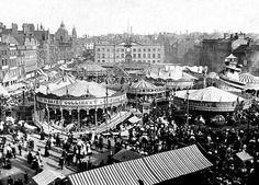 The Nottinghamshire Heritage Gateway > Places > Goose Fair > Overview Nottingham Goose Fair, Nottingham City Centre, Nottingham Uk, Local History, Family History, Good Old Times, History Photos, British Isles, Back In The Day