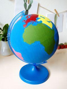 Kilka słów na temat Montessori globusa kontynentów: dlaczego tak właśnie wygląda, dlaczego kontynenty są w takich kolorach oraz nasza DIY wersja. :)
