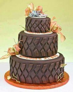 Do you like trucks?  ATV's? Road bikes?  Take this cake into consideration. Groom cake
