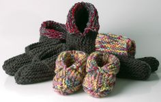 Ravelry: Wooly Woodland Moccasins, WYKIWYG Version pattern by Lara Neel