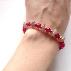 Real Quartz & Moonstone Bracelet. Genuine Multi Gem Semi Precious Cherry Artisan in Jewellery & Watches, Costume Jewellery, Bracelets | eBay