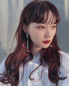Two Color Hair, Korean Hair Color, Beautiful Hair Color, Dying Your Hair, Dye My Hair, Redhead Hairstyles, Wine Hair, Ulzzang Hair, Stylish Haircuts