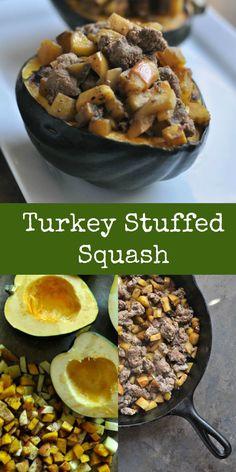 Turkey Stuffed Squash