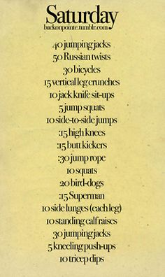 Daily workouts :)