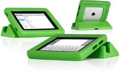 Big Grip iPad Frame protects your tablet from slippery hands.
