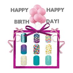 Happy Birthday!! The perfect gift for any birthday girl! Like the look? Ask me for a free Jamberry nail wrap sample through my independent consultant site: www.jlim.jamberrynails.net/shop 'Like' my business page to contact me about hosting a nail party: www.facebook.com/jeniferlimjam