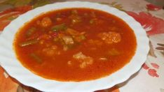 Talianska zeleninová polievka Minestrone, Polievky, recept | Naničmama.sk Thai Red Curry, Food And Drink, Soup, Ethnic Recipes, Soups
