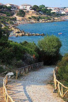 Ingresso spiaggia Capo Rizzuto,Calabria,Italy