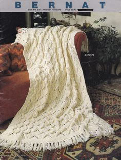 1986 Bernat American Heirlooms Book 8 Afghan Knitting Patterns, 8 Afghan Crochet Patterns, Shh Baby is Sleeping, Acorn Stitch Afghan by OnceUponAnHeirloom on Etsy Afghan Crochet Patterns, Baby Knitting Patterns, Knitted Afghans, Crochet Blankets, Pretty Patterns, Pattern Books, Stitch, American, Acorn