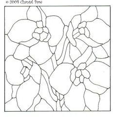 vitral desenhos flores