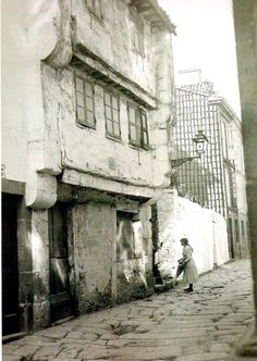1925 Algalia de Abaixo.  Fotos antiguas de Santiago de Compostela