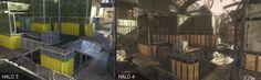 Halo 3 / Halo 4 Pit comparison