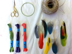 Dream Catchers- I'm Not So Sure I'll Be Making a Dream Catcher But the Paper Feathers Look Fun For Some Other Projects
