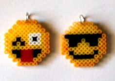 sandylandya@outlook.es  Smiley faces pendants perler beads by bmusic23