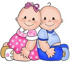 Baby Playing Babies And Cards Clipart - Cliparts. Boy And Girl Cartoon, Baby Cartoon, Cute Cartoon, Boy Or Girl, Clipart Baby, Baby Painting, Baby Shawer, Infancy, Twin Babies