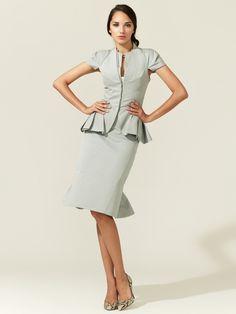 Cotton Faille Pencil Skirt by Zac Posen