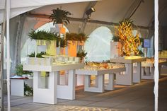 Beautiful buffet displays