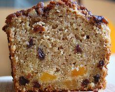 oatmeal bfast bread - brown sugar, walnuts, applesauce, milk, cinnamon, egg whites, oil, flour, sugar, baking powder, cloves, nutmeg