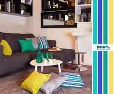 decoracion living sofa gris y calipso - Buscar con Google