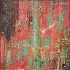 Distressed barn door-style wall décor.     Product: Wall décor     Construction Material: Wood and metal    Color: Multi   Features:  Distressed finish    Will enhance any dcor    Dimensions: 39.4 H x 39.4 W