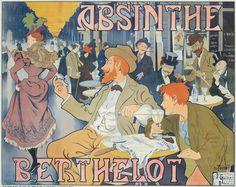 Flirting With Men, Vintage Cafe, Romantic Scenes, Unique Paintings, Poster Prints, Art Prints, Alphonse Mucha, Art Deco Era, Advertising Poster
