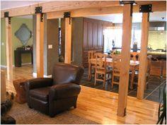 Hallway floor. Love those beams.  Ranch Rambler Before Great Room Addition