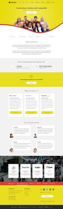 refreshed web design for Grassroots by Combaticus