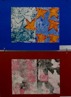 Printmaking Tesselations - Ms. Kuster's 3rd and 4th Grade Art Classes, Carlsbad, NM #newmexicostatefair