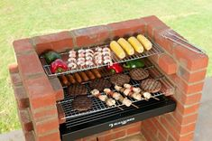 Original DIY Brick Grill Kit BKB 401 - Built In BBQ Grill for Charcoal. All Hardware including Stainless Steel Cooking Grill, Charcoal Grid, Deep Ash Tray with Ember Guard, Warming Rack & Lifting Hand Brick Built Bbq, Built In Bbq Grill, Brick Grill, Barbecue Grill, Grilling, Parrilla Exterior, Stainless Steel Grill, Cooking On The Grill, Outdoor Kitchen Design