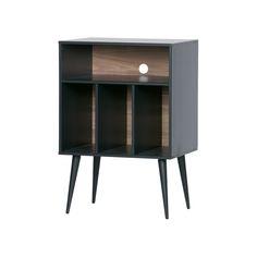 WOOOD Opbergkast 'James' kleur Zwart Lps, Bel Esprit, Grande Niche, Tube Acier, Kiefer, Cabinet Making, Hard Floor, Walnut Veneer, Wood Cabinets